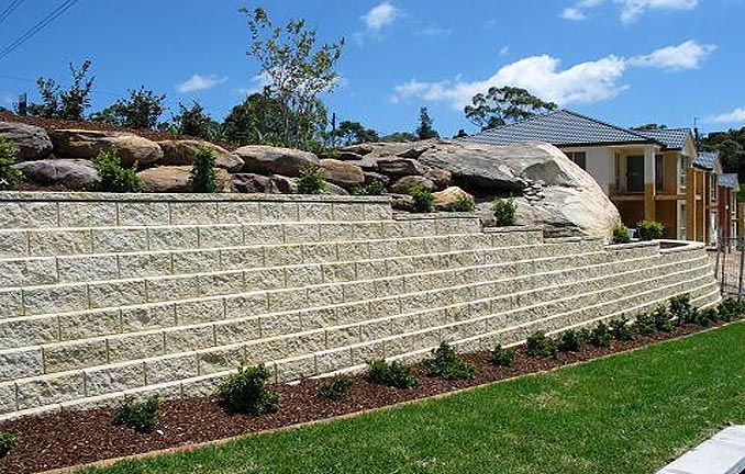 Allan Block AB collection retaining wall