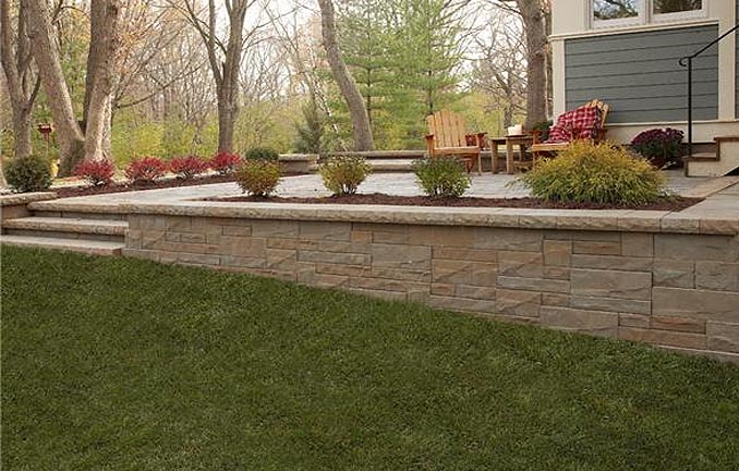 Anchor outdoor multiheight retaining wall system