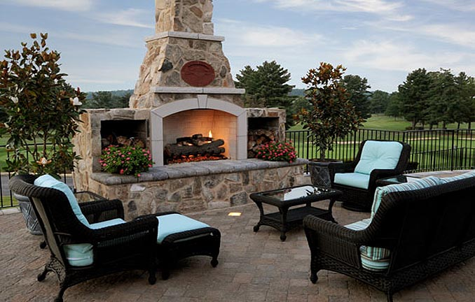 General Shale outdoor fireplace