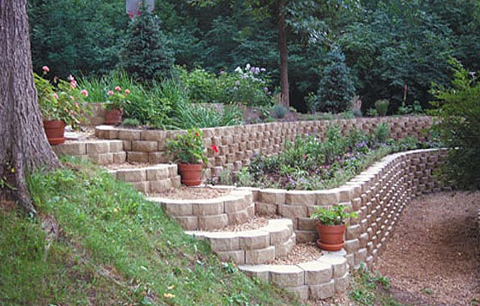 Segmental Retaining Wall Design segmental retaining walls making the grade Keystone Retaining Garden Wall