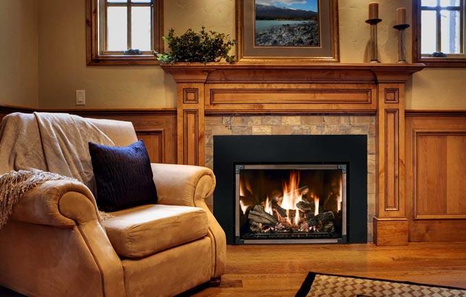 Mendota luxury fireplace- traditional look