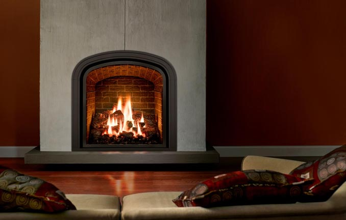 Mendeta Fireplace - modern stucco look