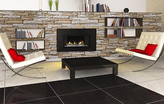Napolean Fireplace - modern look