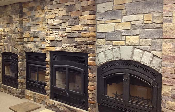 Visit our showroom for our large selection of fireplaces