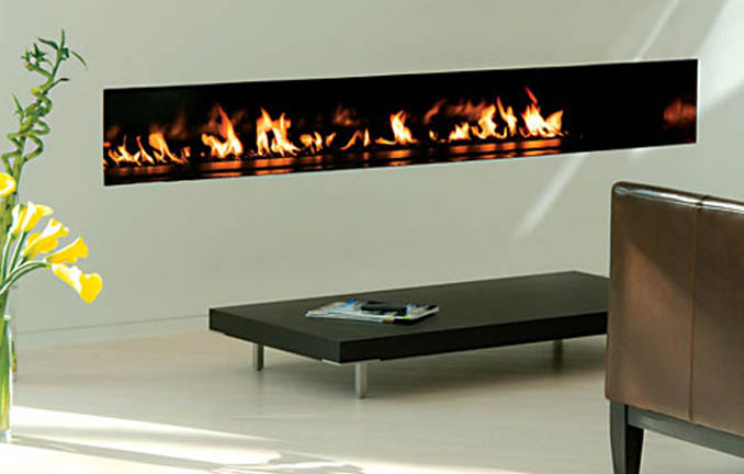 Spark Mmodern Fireplace Linear Burners