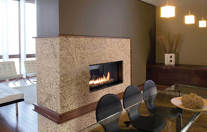 Spark Modern Fireplace with Natural Gas